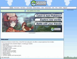 pokemonworldonline.net screenshot
