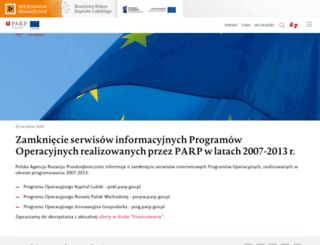 pokl.parp.gov.pl screenshot