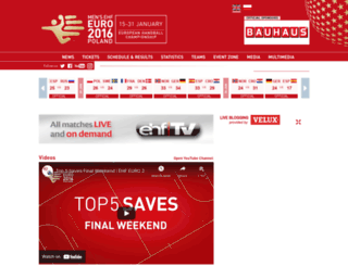 pol2016.ehf-euro.com screenshot