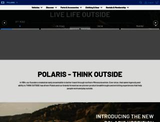 polarisindustries.com screenshot