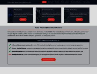 police-auctions.org.uk screenshot