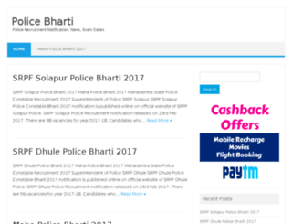 police-bharti.in screenshot