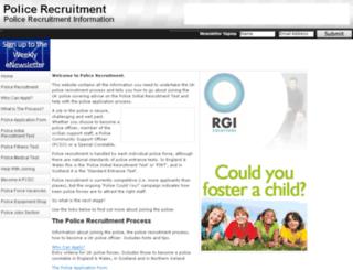 police-recruitment.com screenshot