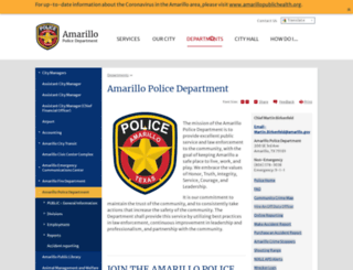police.amarillo.gov screenshot