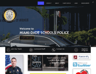 police.dadeschools.net screenshot