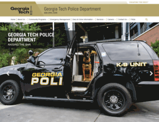 police.gatech.edu screenshot