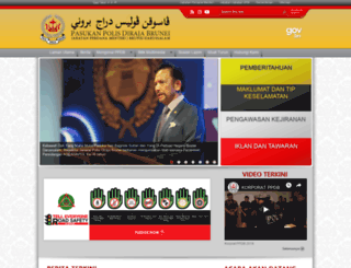 police.gov.bn screenshot