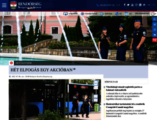 police.hu screenshot