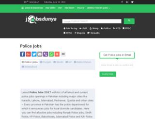 police.jobsdunya.com screenshot