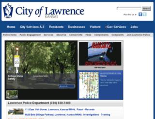 police.lawrenceks.org screenshot