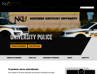police.nku.edu screenshot