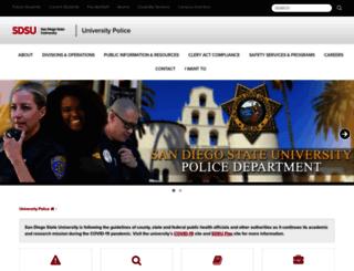 police.sdsu.edu screenshot