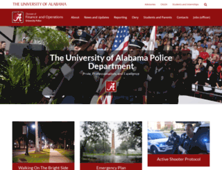 police.ua.edu screenshot
