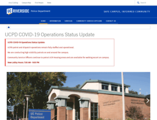 police.ucr.edu screenshot