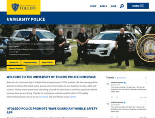 police.utoledo.edu screenshot