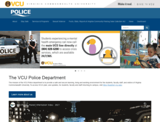 police.vcu.edu screenshot