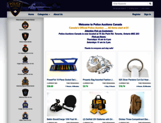 policeauctionscanada.com screenshot