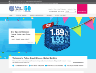 policecu.com.au screenshot