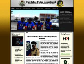 policenet.bz screenshot