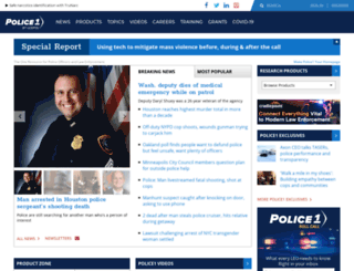 policeone.com screenshot