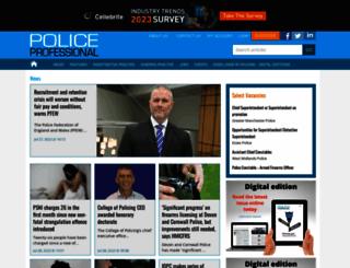 policeprofessional.com screenshot