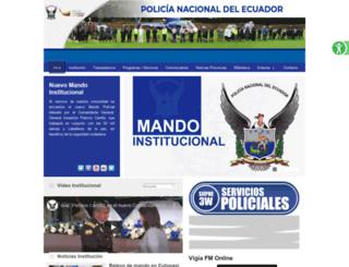 policiaecuador.gob.ec screenshot
