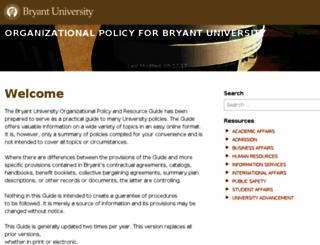policies.bryant.edu screenshot