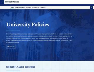 policies.emory.edu screenshot