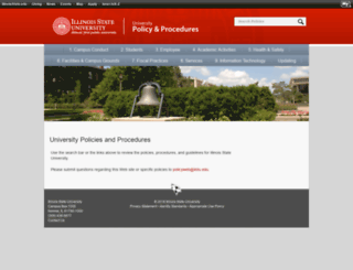 policy.ilstu.edu screenshot