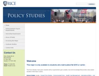 policystudies.rice.edu screenshot