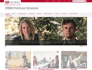 polisci.unm.edu screenshot