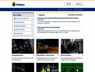 polisen.se screenshot