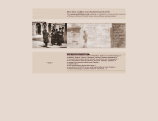 polishjews.org screenshot