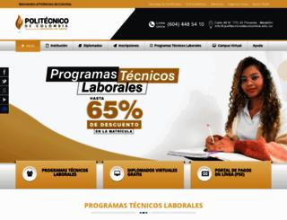 politecnicodecolombia.edu.co screenshot