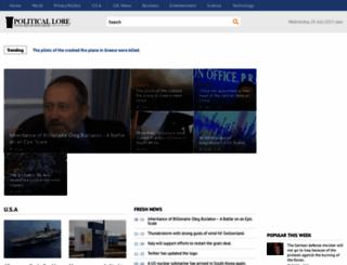 politicallore.com screenshot