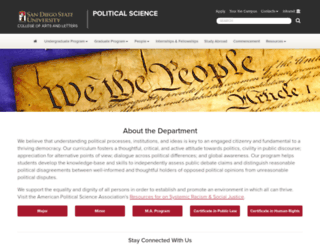 politicalscience.sdsu.edu screenshot