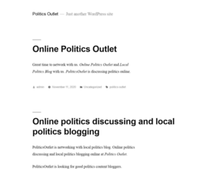 politicsoutlet.com screenshot