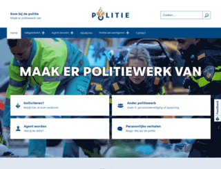 politie-werving.nl screenshot