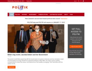 politik.co.nz screenshot
