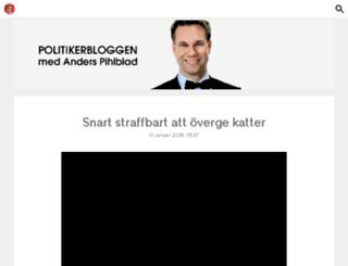politikerbloggen.se screenshot