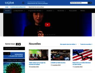 politique.uqam.ca screenshot
