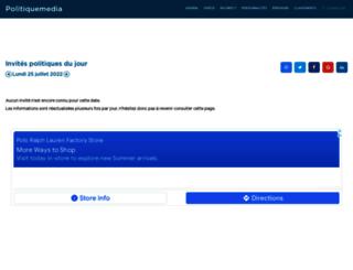 politiquemedia.com screenshot