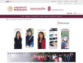polivirtual.ipn.mx screenshot