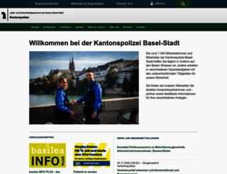 polizei.bs.ch screenshot