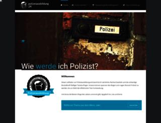 polizeiausbildung24.de screenshot