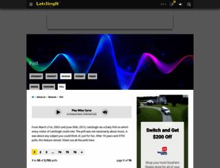 poll.letssingit.com screenshot