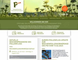 pollenstiftung.de screenshot