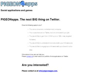 pollpigeon.com screenshot