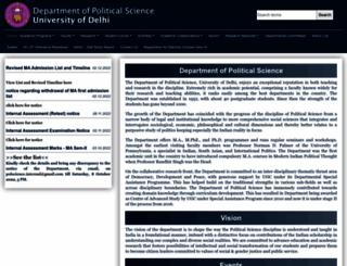 polscience.du.ac.in screenshot
