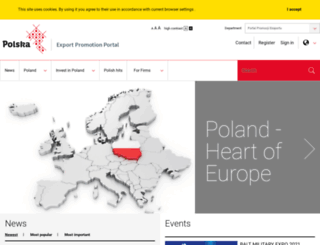 polska.trade.gov.pl screenshot